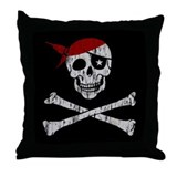 Pirate! Throw Pillow
