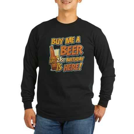 Buy Beer 21st Birthday Long Sleeve Dark T-Shirt