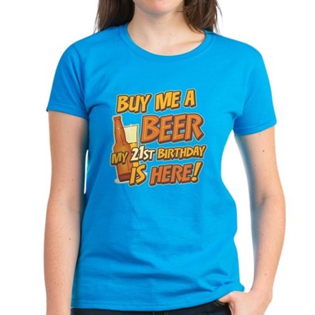 Buy Beer 21st Birthday Women's Dark T-Shirt