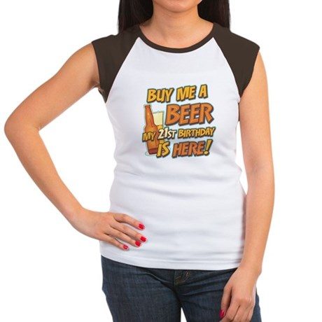 Buy Beer 21st Birthday Women's Cap Sleeve T-Shirt
