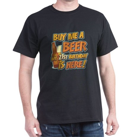 Buy Beer 21st Birthday Dark T-Shirt