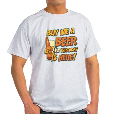 Buy Beer 21st Birthday Light T-Shirt
