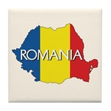 Map of Romania Tile Coaster