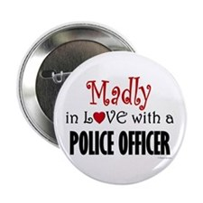 "Madly In Love (Police Officer) 2.25"" Button (100 p"