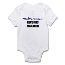 Worlds Greatest RECORDS MANAGER Infant Bodysuit