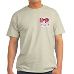 Open Your Heart to a Chained  Ash Grey T-Shirt