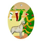 Labrador Retriever Dog Christmas Oval Ornament