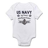 US Navy Friend Defending Infant Bodysuit
