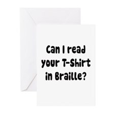 Read your t shirt in braille Greeting Cards (Pk of