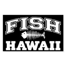 Fish Hawaii Rectangle Decal