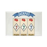 Jackpot 777 (Blue) Rectangle Magnet (100 pack)
