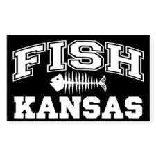 Fish Kansas Rectangle Decal
