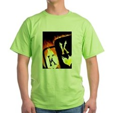FLAMING POCKET KINGS COWBOYS POKER T-Shirt