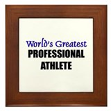 Worlds Greatest PROFESSIONAL ATHLETE Framed Tile