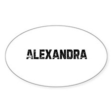 Alexandra Oval Decal
