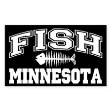 Fish Minnesota Rectangle Decal