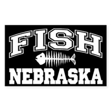 Fish Nebraska Rectangle Decal