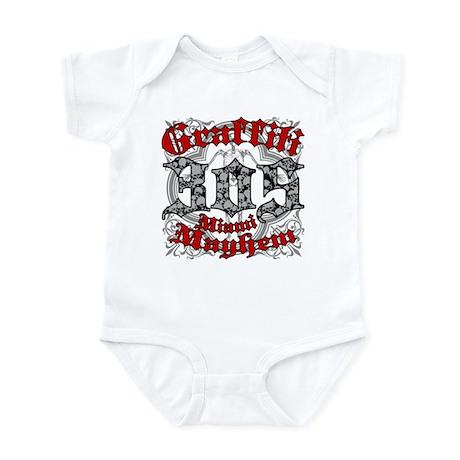 """""""305 MIAMI MAYHEM"""" Infant Bodysuit"""