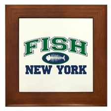 Fish New York Framed Tile