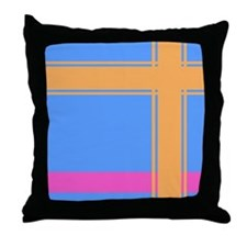 Retro Plaid Throw Pillow