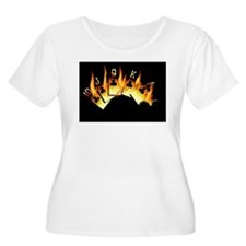 FLAMING ROYAL FLUSH POKER ART T-Shirt