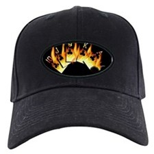 FLAMING ROYAL FLUSH POKER ART Baseball Hat
