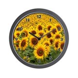 Sunflower Fields Wall Clock