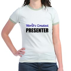 Worlds Greatest PRESENTER Jr. Ringer T-Shirt