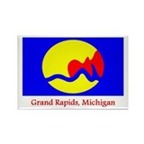 Grand Rapids MI Flag Rectangle Magnet (100 pack)