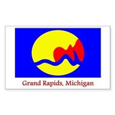 Grand Rapids MI Flag Rectangle Decal