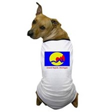 Grand Rapids MI Flag Dog T-Shirt