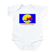 Grand Rapids MI Flag Infant Bodysuit
