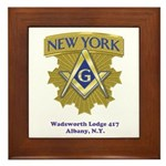 Wadsworth Lodge 417 Framed Tile