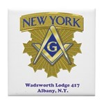 Wadsworth Lodge 417 Tile Coaster