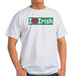 I Love Irish Ash Grey T-Shirt