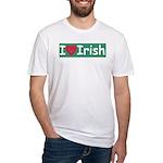I Love Irish Fitted T-Shirt
