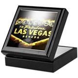 FAMOUS LAS VEGAS SIGN POKER CASINO Keepsake Box