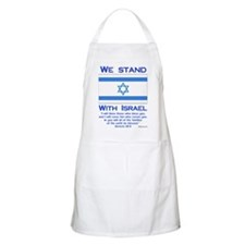 We Stand With Israel BBQ Apron