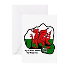 Wales Fist 1881 Greeting Cards (Pk of 10)