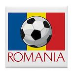 Romanian Soccer (2) Tile Coaster