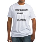 206 Bones in the human body Fitted T-Shirt