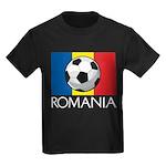 Romanian Soccer (2) Kids Dark T-Shirt