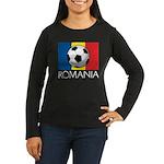 Romanian Soccer (2) Women's Long Sleeve Dark T-Shi