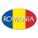 Romania Oval Bumper Stickers