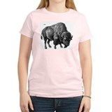 Bison Women's Pink T-Shirt