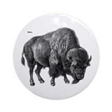 Bison Ornament (Round)