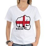 England Fist 1871 Women's V-Neck T-Shirt