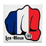 French Fist 1919 Tile Coaster