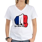 French Fist 1919 Women's V-Neck T-Shirt