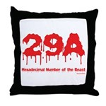 Hex Number Throw Pillow